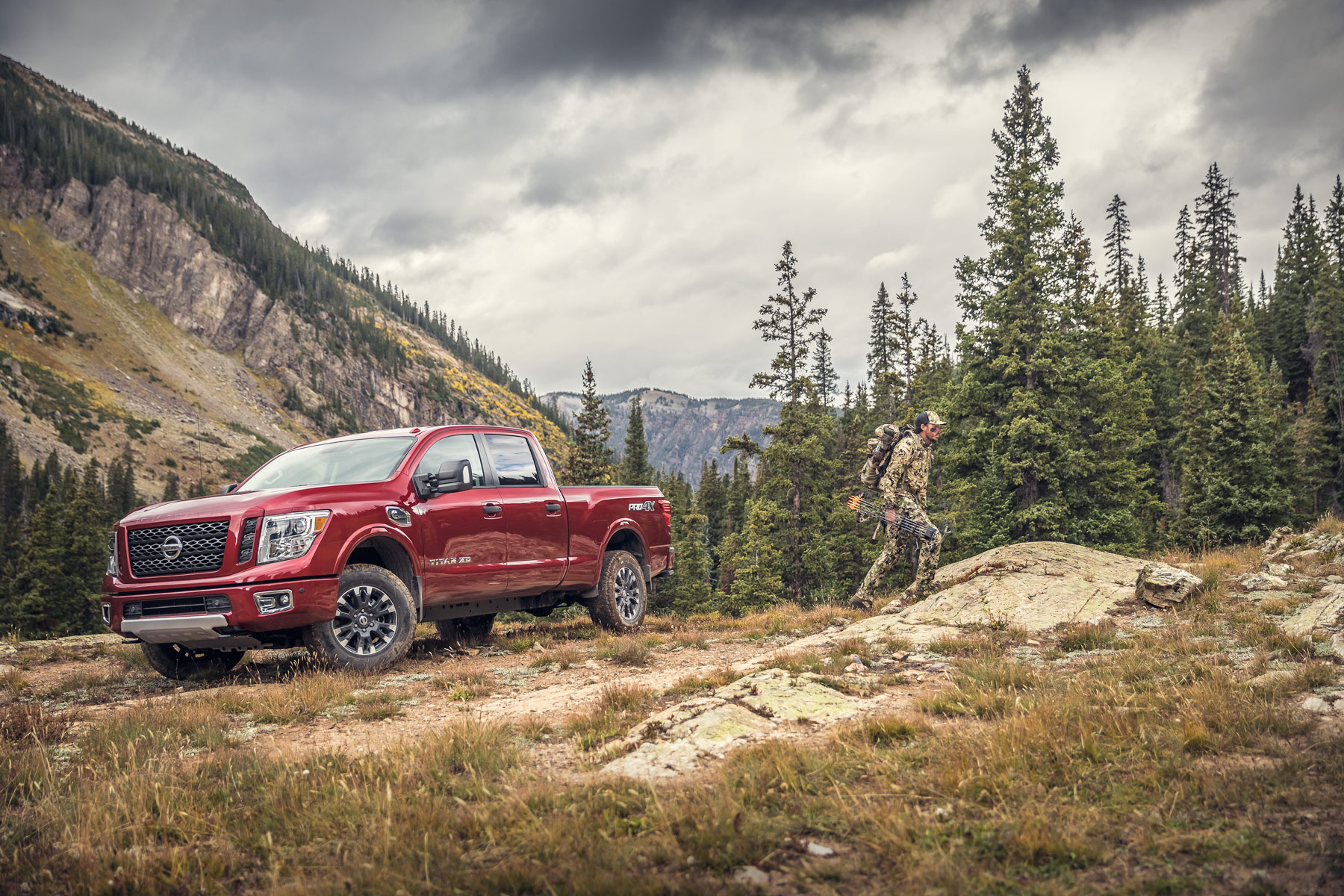 Automotive Photography - 2018 Nissan Titan XD and elk hunter